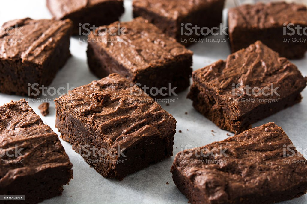 Chocolate brownie portions - Photo