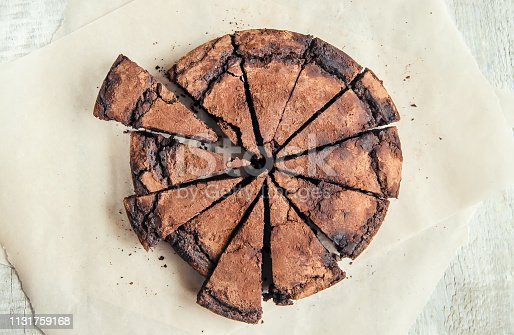 istock chocolate brownie, selective focus. food and drink. 1131759168