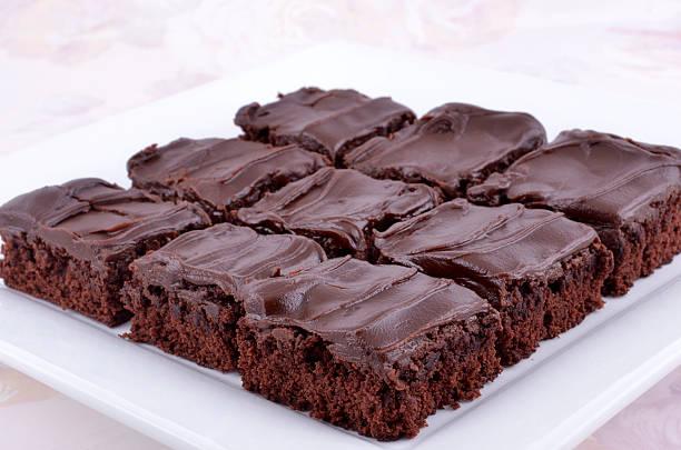 초콜릿 brownies - 아이싱 뉴스 사진 이미지