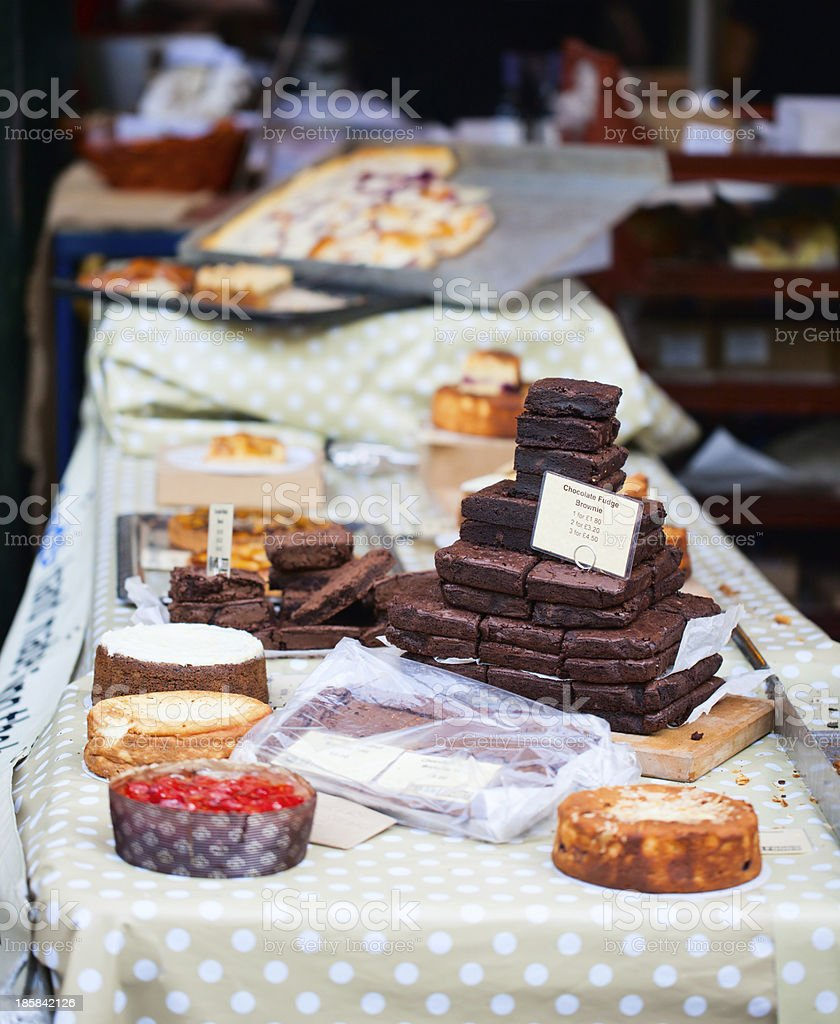 Chocolate brownies royalty-free stock photo