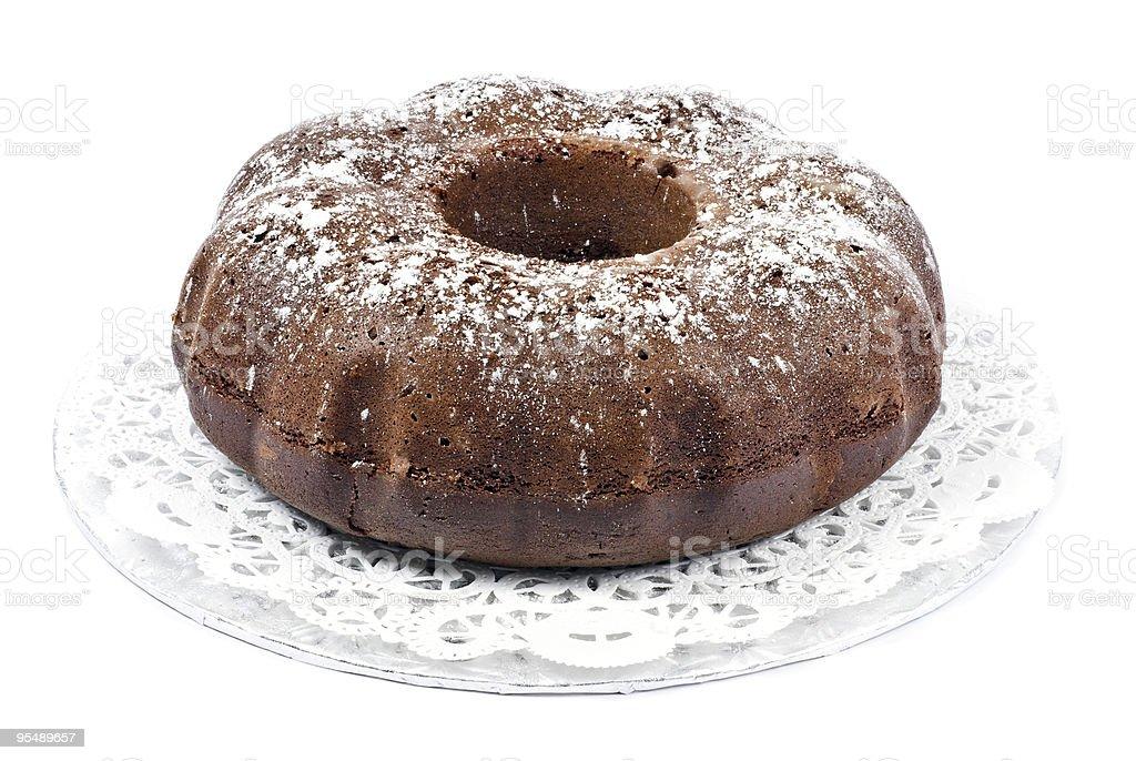 Chocolate Bundt Cake stock photo