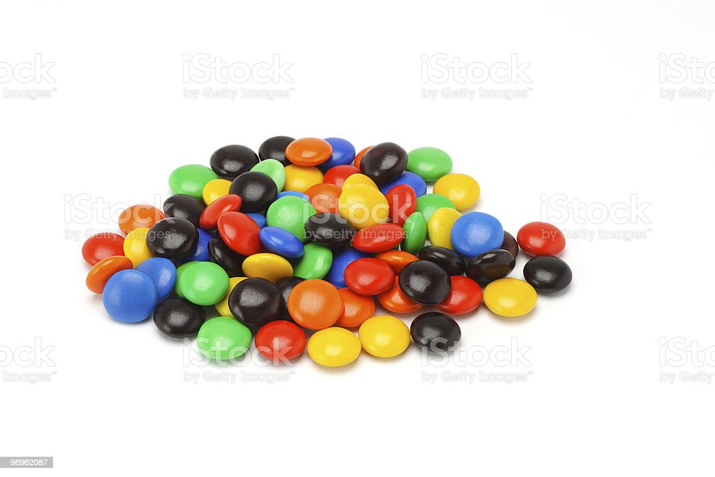 Chocolate button candies royalty-free stock photo