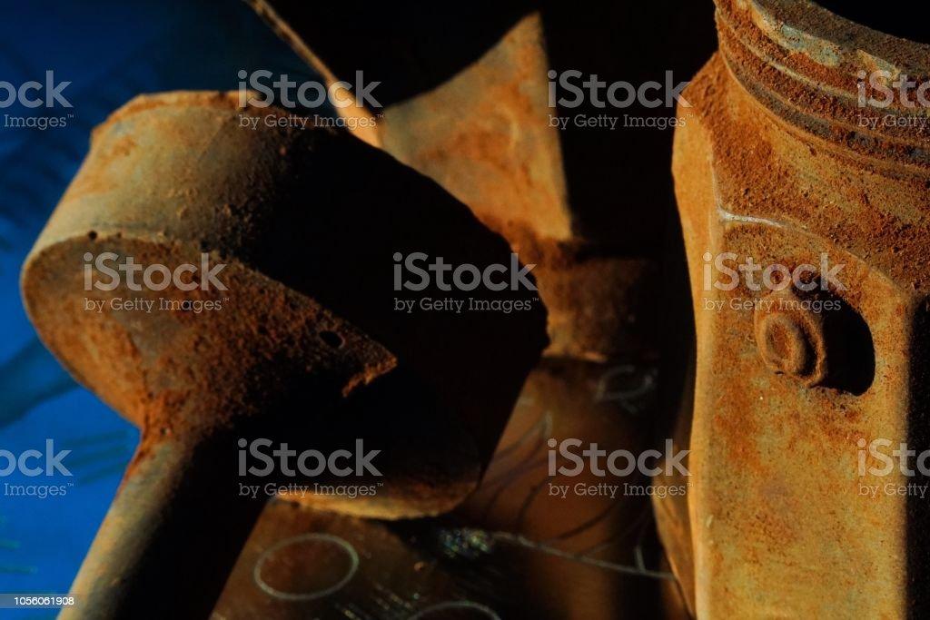 Chocolate caffettiera model closeup in nice light stock photo