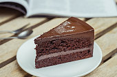 Chocolate Dripping Down The Side Of A Cake