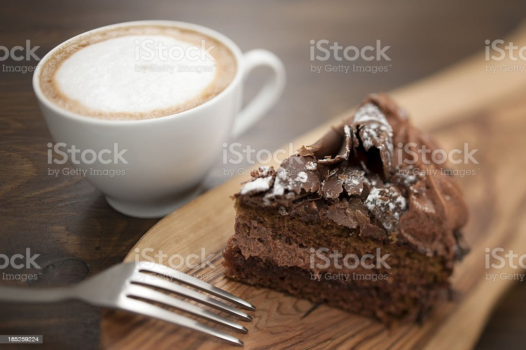 Chocolate Cake and coffee stock photo