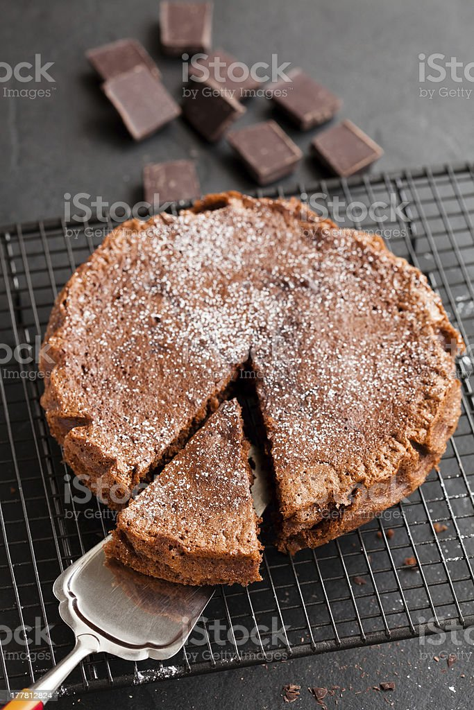 Chocolate cake and squares royalty-free stock photo