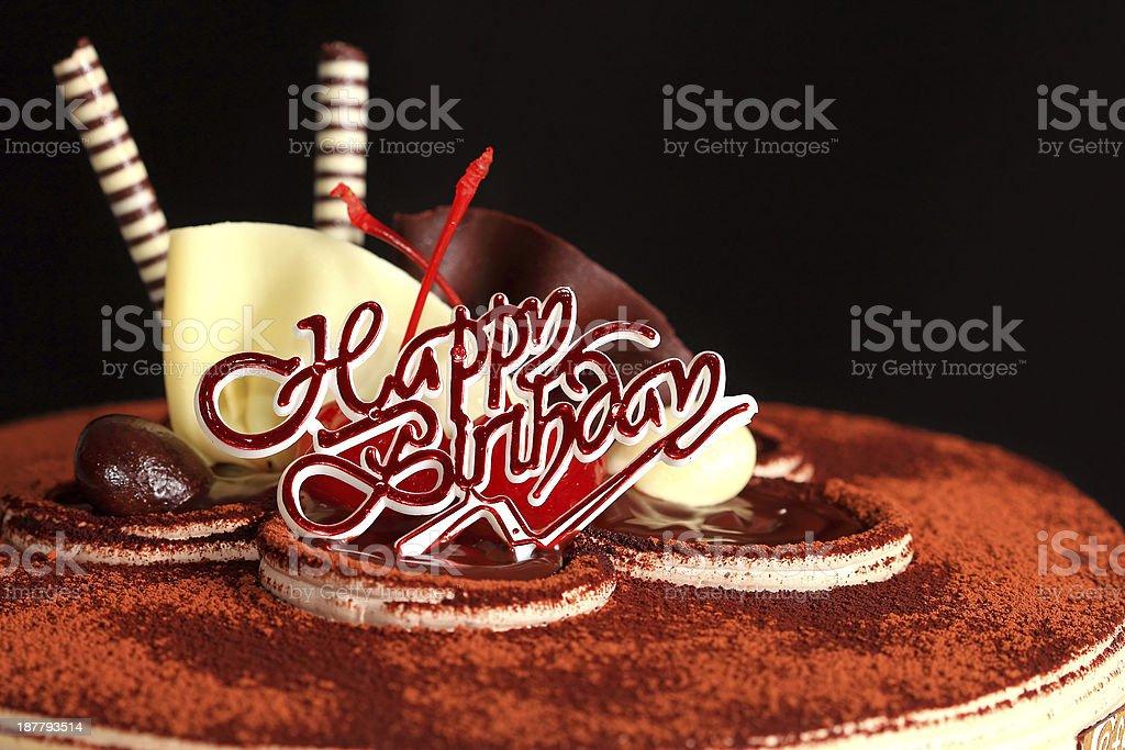 chocolate cake happy birthday royalty-free stock photo