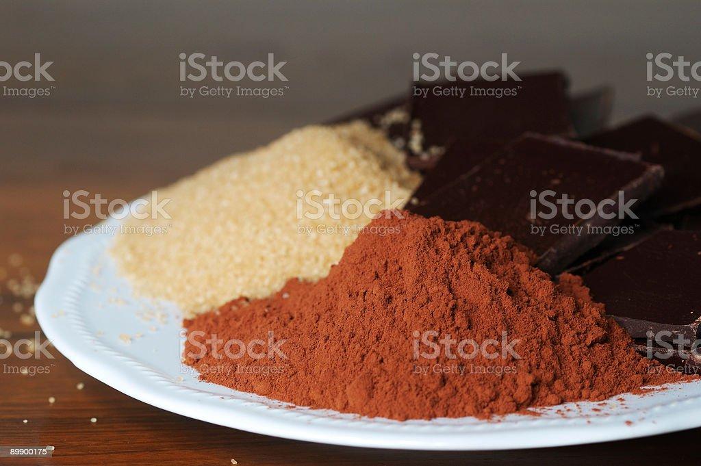 Pastel de Chocolate ingredientes foto de stock libre de derechos