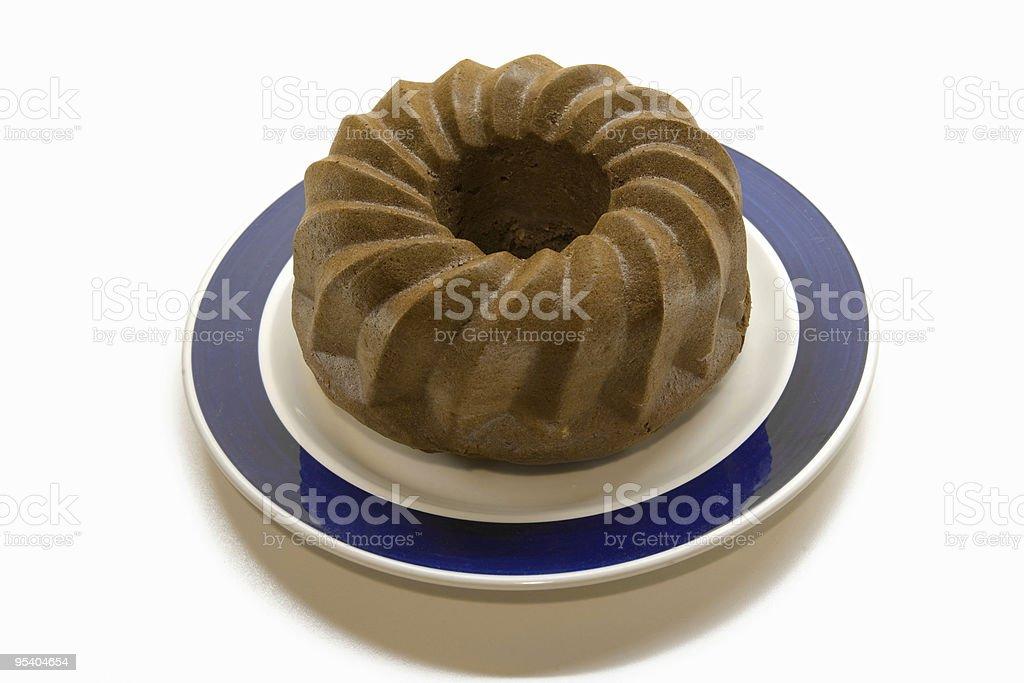 Schokolade Kuchen, isoliert auf weiss Lizenzfreies stock-foto