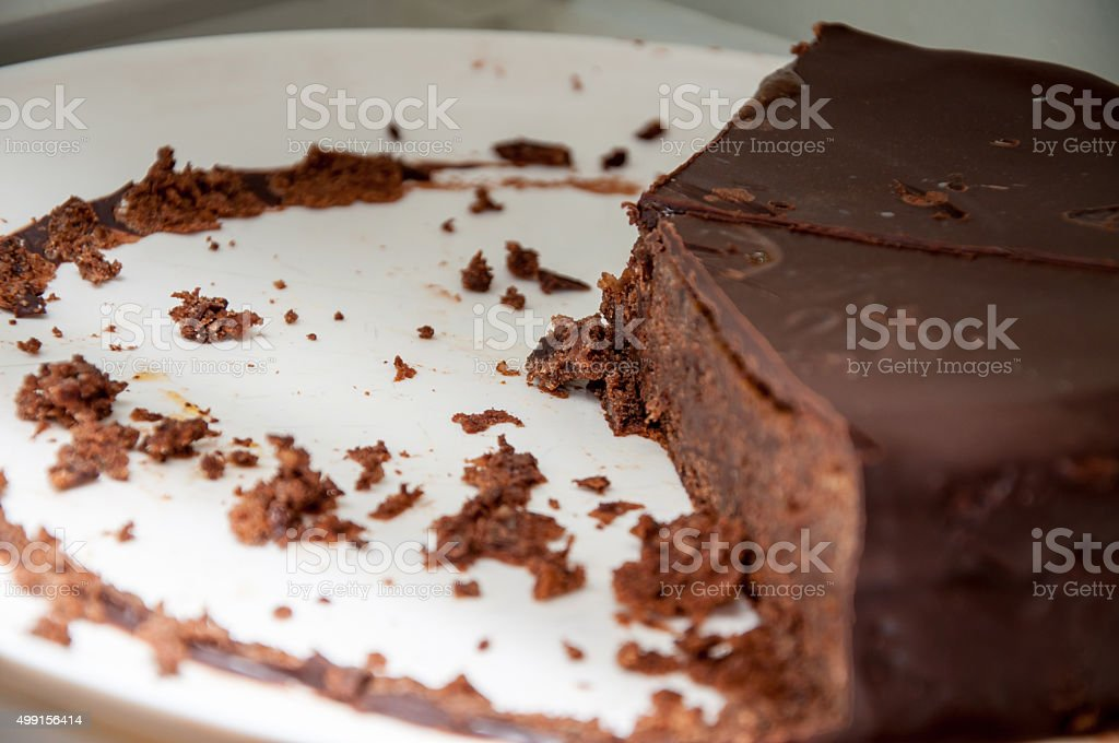 Chocolate Cake on a plate stock photo