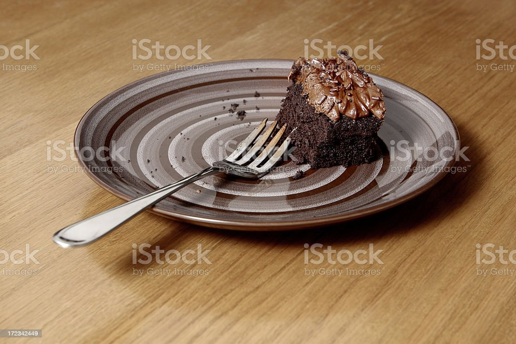 Chocolate Cake on Table royalty-free stock photo