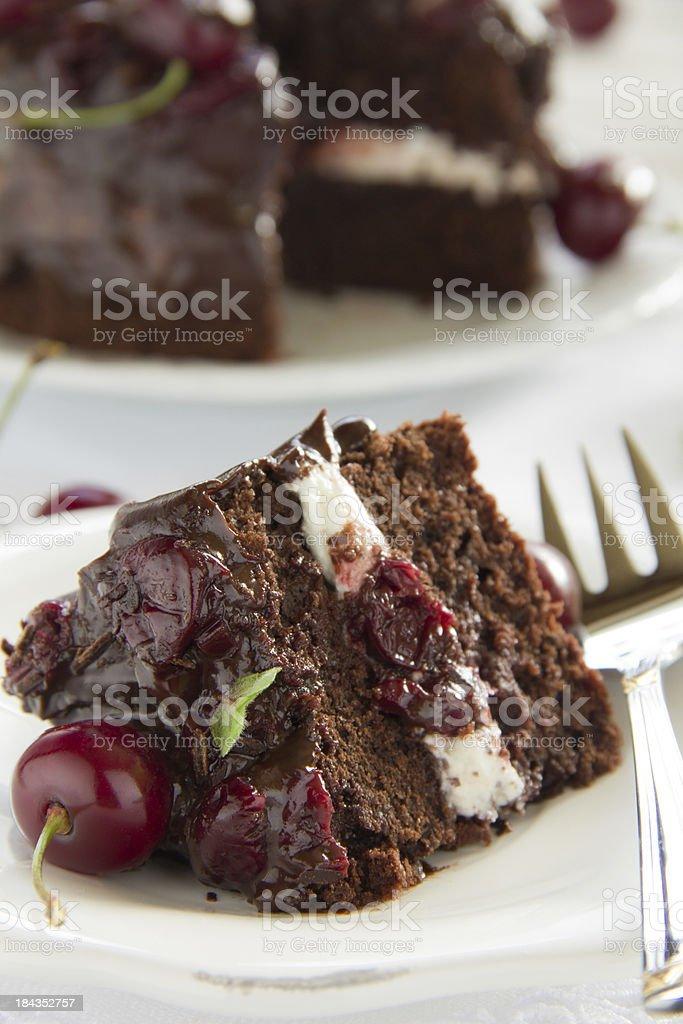 Chocolate cake . stock photo