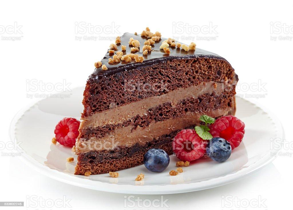 Chocolate Schokoladenkuchen - Lizenzfrei 2015 Stock-Foto