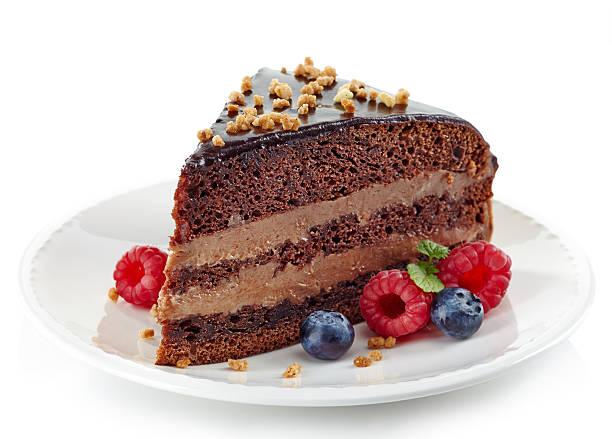 шоколадный торт - кусок торта стоковые фото и изображения
