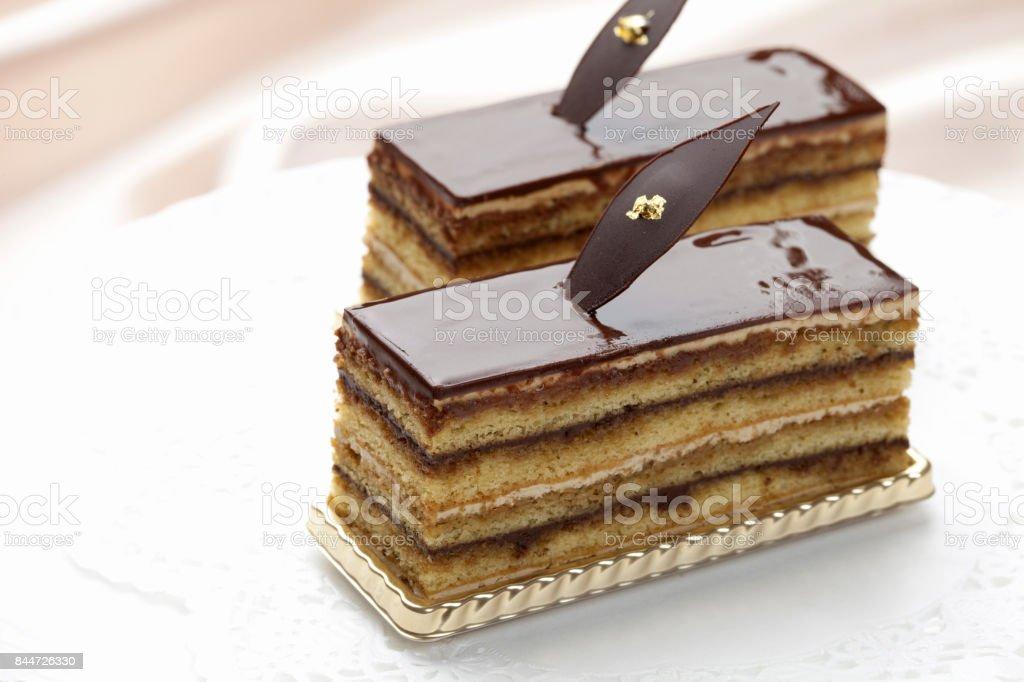 Chocolate cake - fotografia de stock