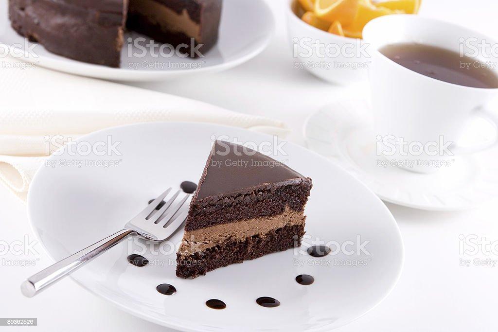 Torta al cioccolato foto stock royalty-free