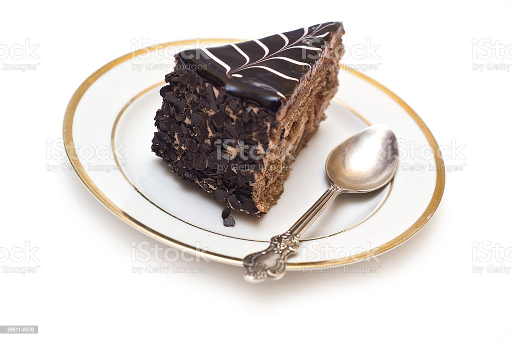 Torta al cioccolato foto stock royalty-free