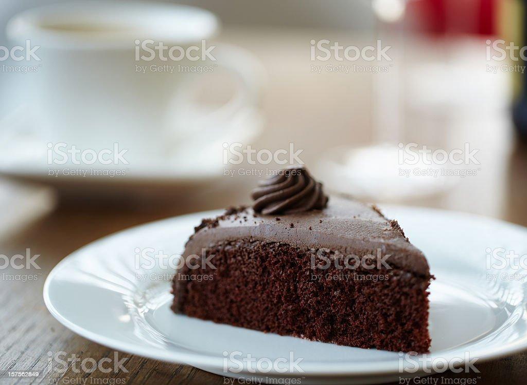Chocolate Cake slice royalty-free stock photo