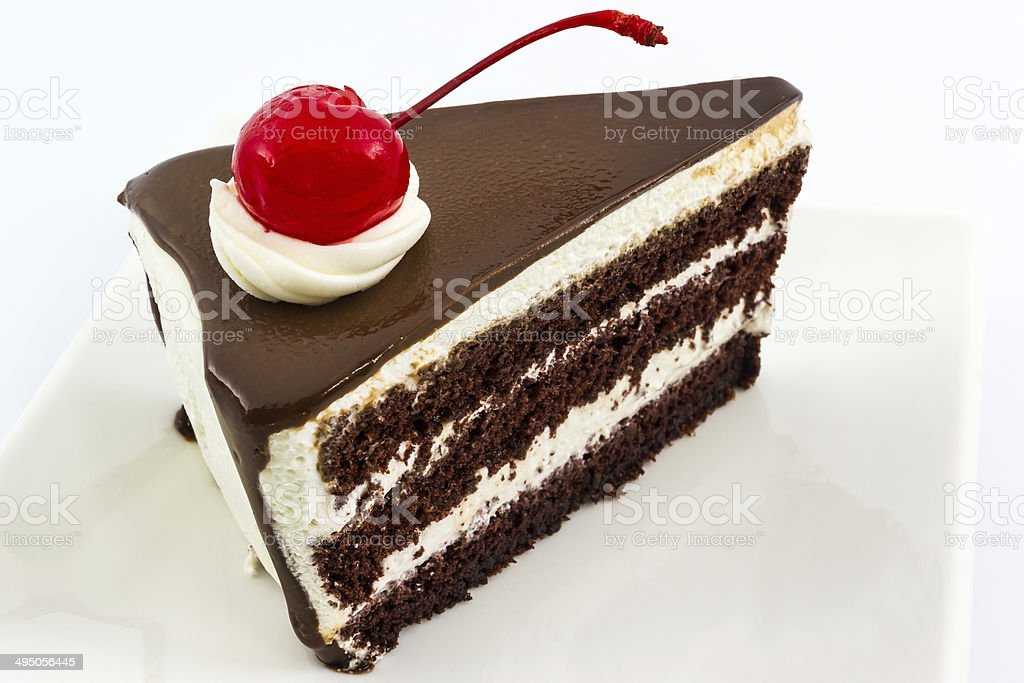 Chocolate cake slice. royalty-free stock photo