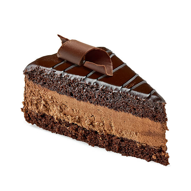шоколадный торт ломтик - кусок торта стоковые фото и изображения
