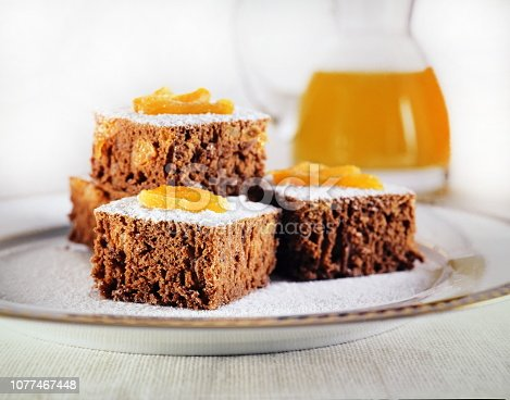 chocolate cake with apricots