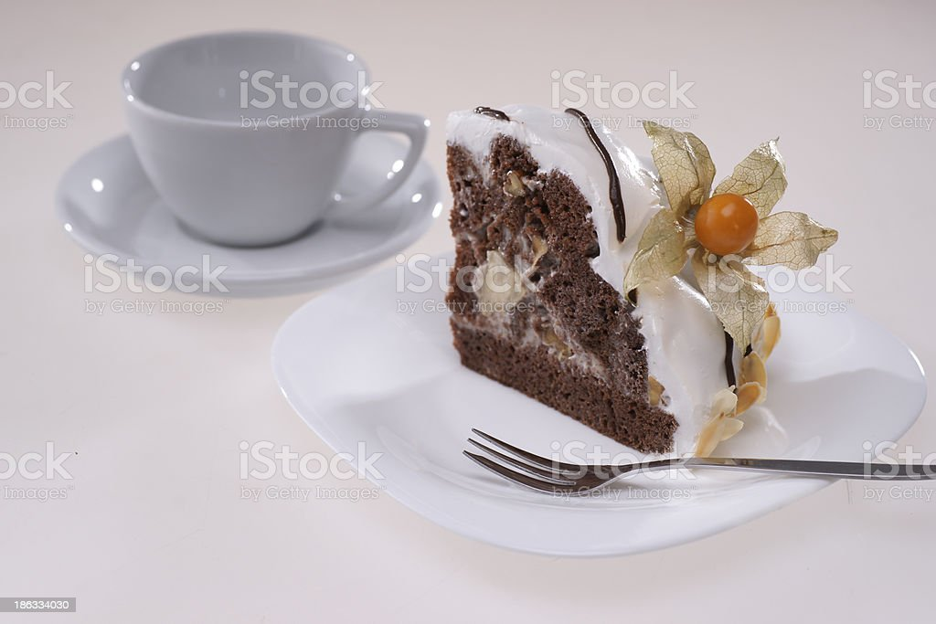 Chocolate Cake with Cape Gooseberry royalty-free stock photo