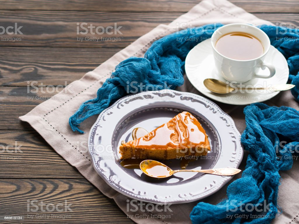 Chocolate cake with caramel royalty-free stock photo