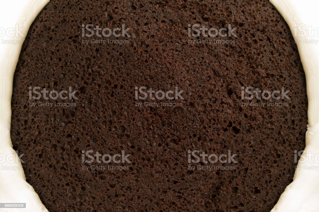 Chocolate Cake With Frosting stock photo