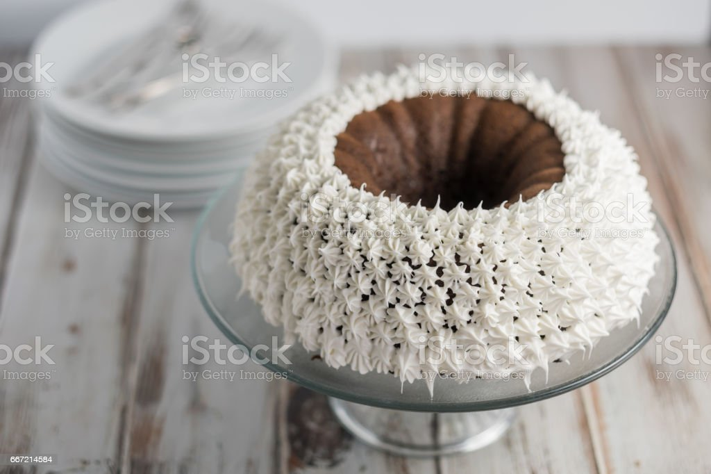 Chocolate Cake with Icing royalty-free stock photo