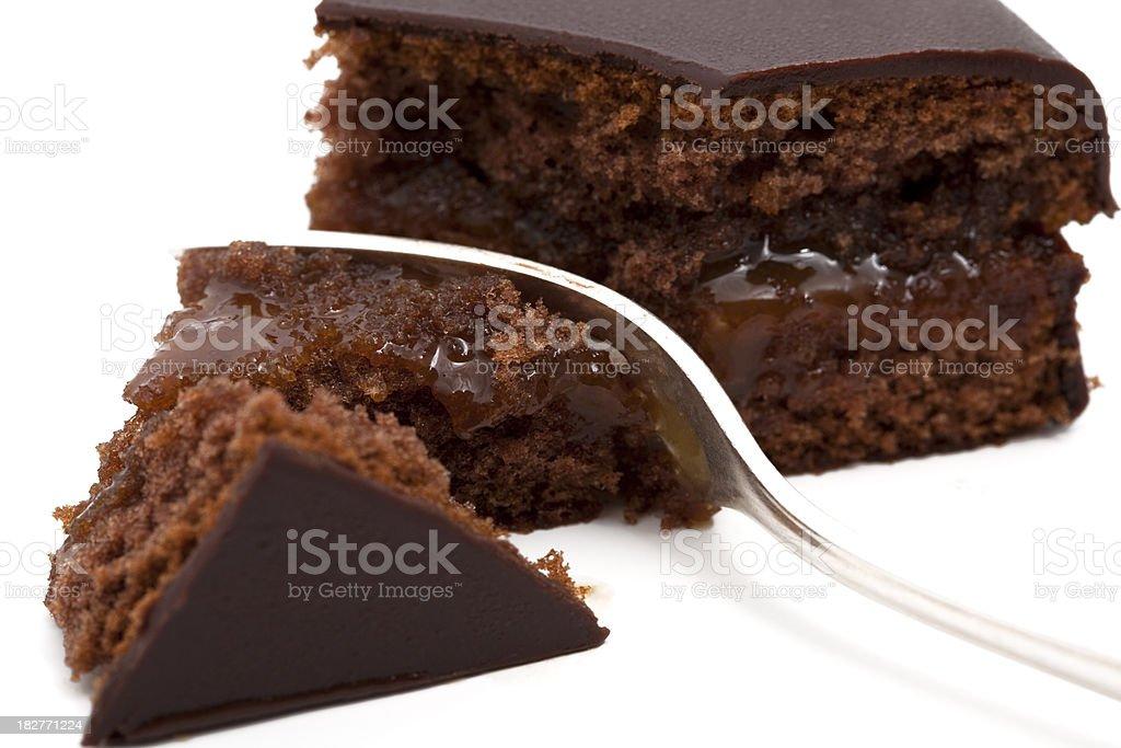 chocolate cake with jam royalty-free stock photo