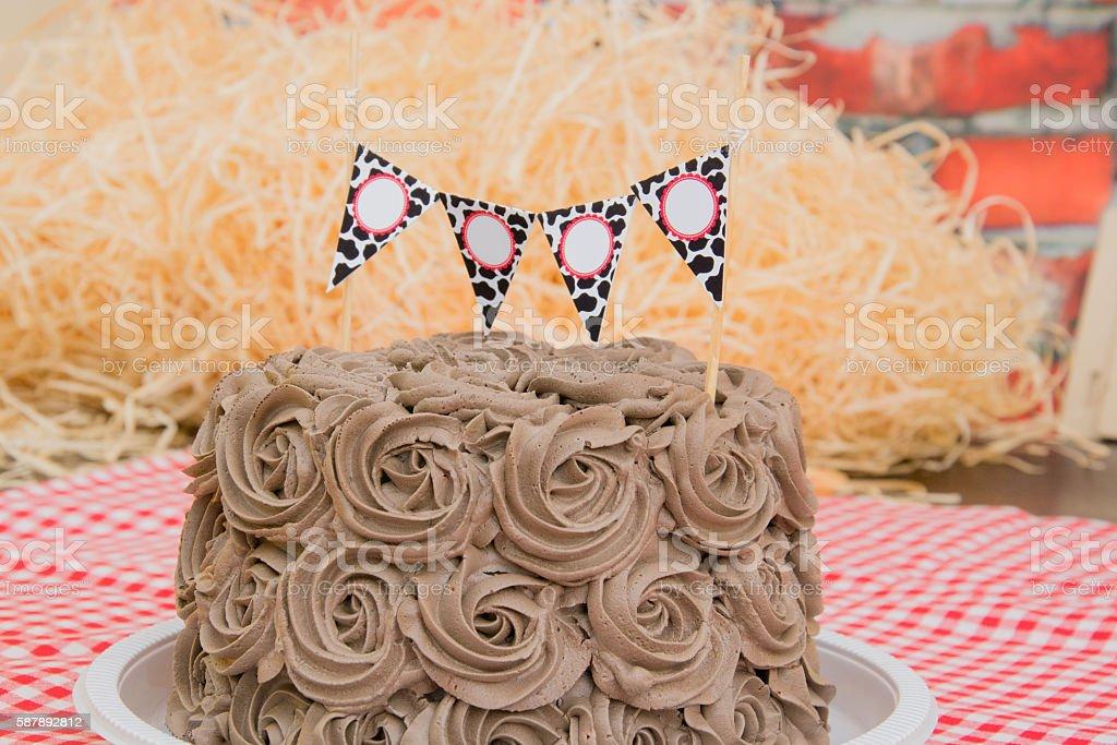 chocolate cake with namespace stock photo