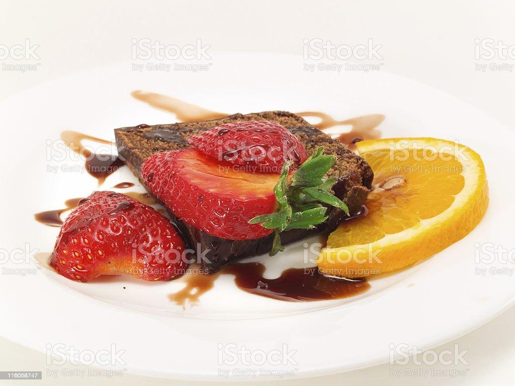 Chocolate Cake with Strawberry royalty-free stock photo