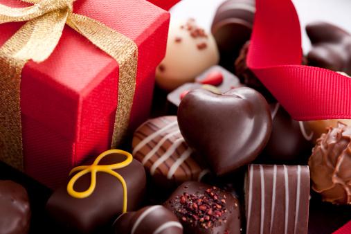 Chocolate Candies and Gift Box
