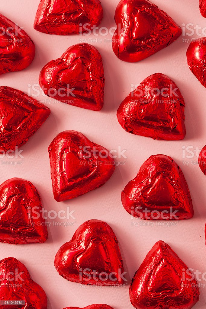 Chocolate Candy Heart Sweets stock photo