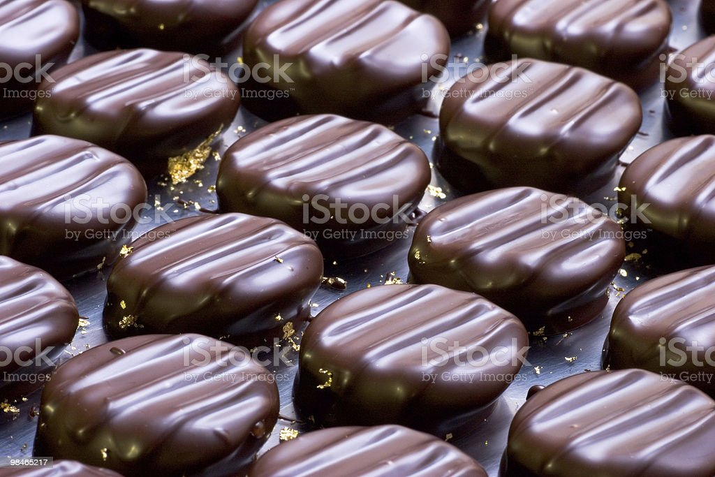 Chocolate Candy With Gold royalty-free stock photo