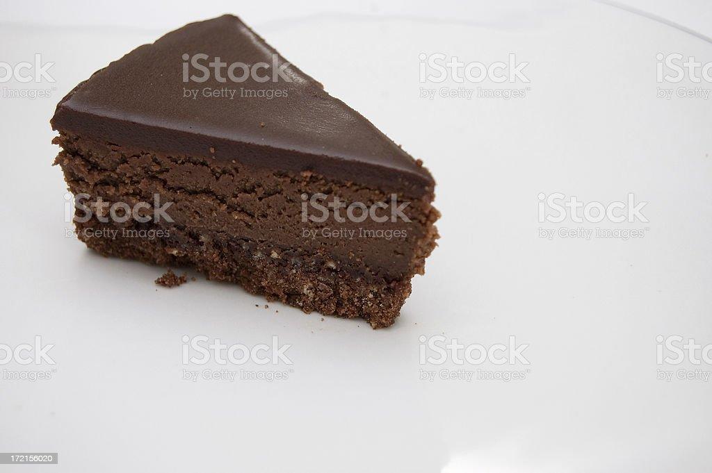 Chocolate cheesecake 1 royalty-free stock photo