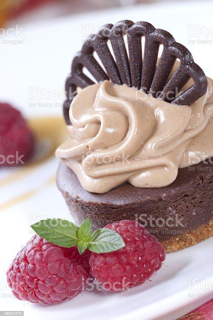 cheesecake de Chocolate - Foto de stock de Assado no Forno royalty-free