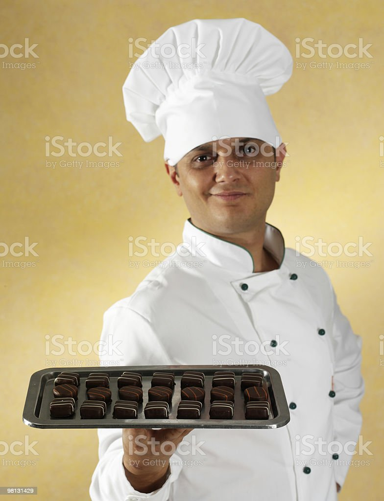 Chocolate chef royalty-free stock photo