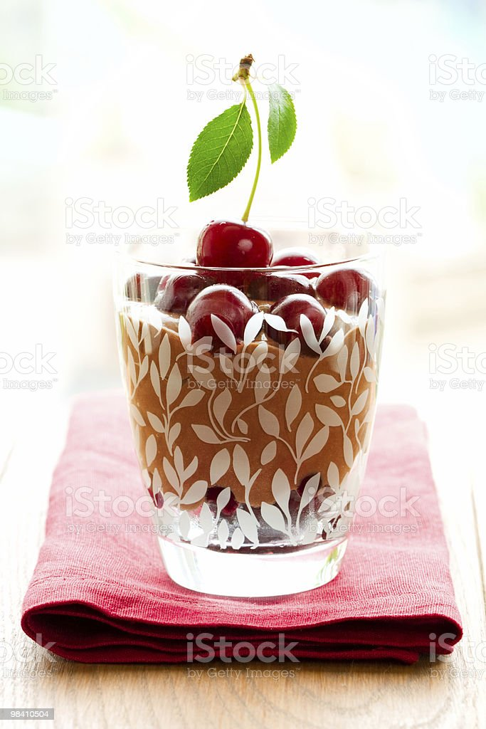 chocolate cherry dessert royalty-free stock photo
