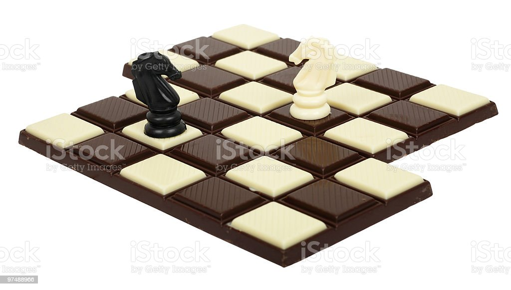 Chocolate Chessboard royalty-free stock photo
