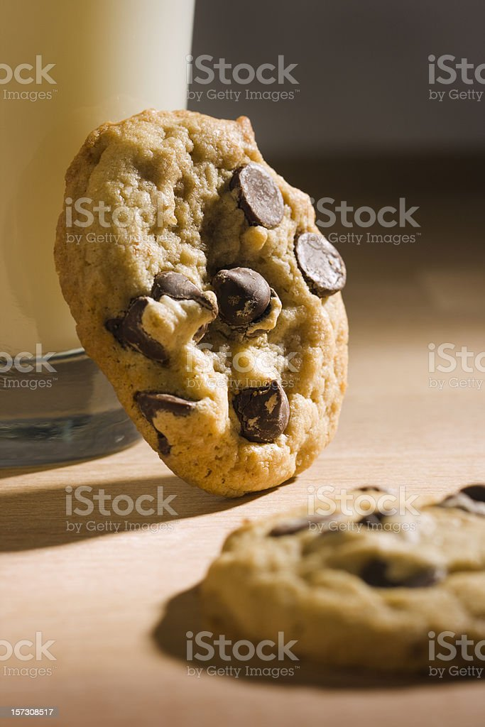 Chocolate Chip Cookie Afternoon royalty-free stock photo