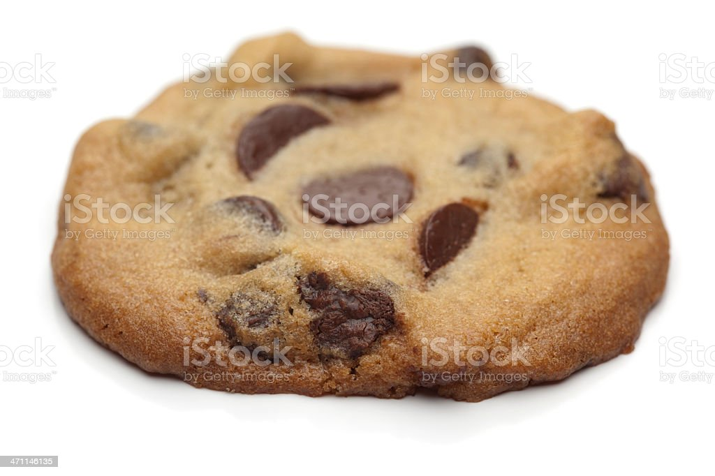 Chocolate Chip Cookie Close Up royalty-free stock photo