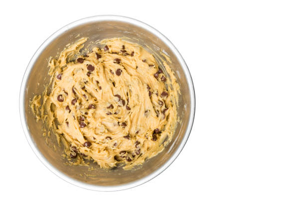 Chocolate Chip Cookie Dough Bowl stock photo