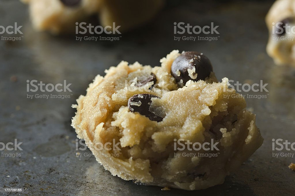Chocolate Chip Cookie Dough royalty-free stock photo