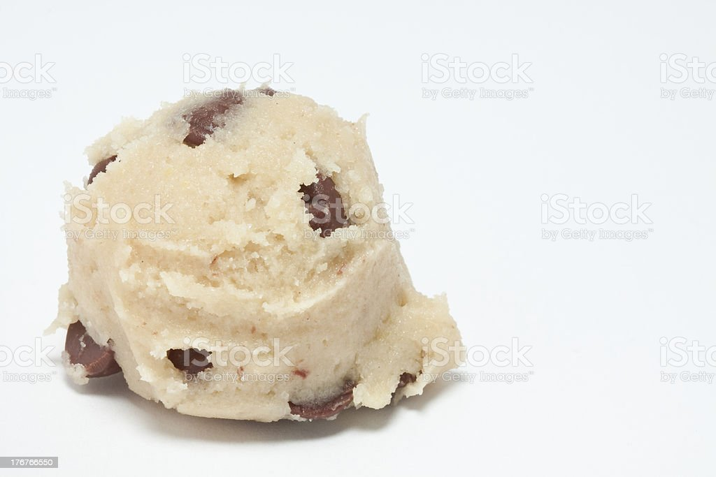 Chocolate Chip Cookie Dough stock photo