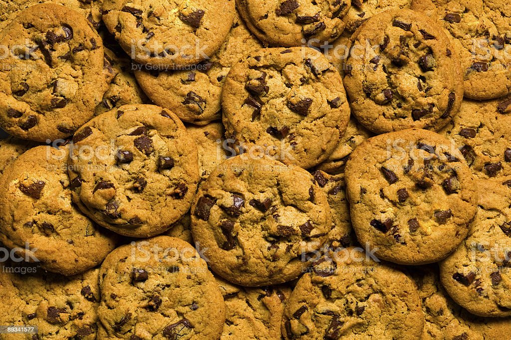 Chocolate Chip Cookie Heap royalty-free stock photo