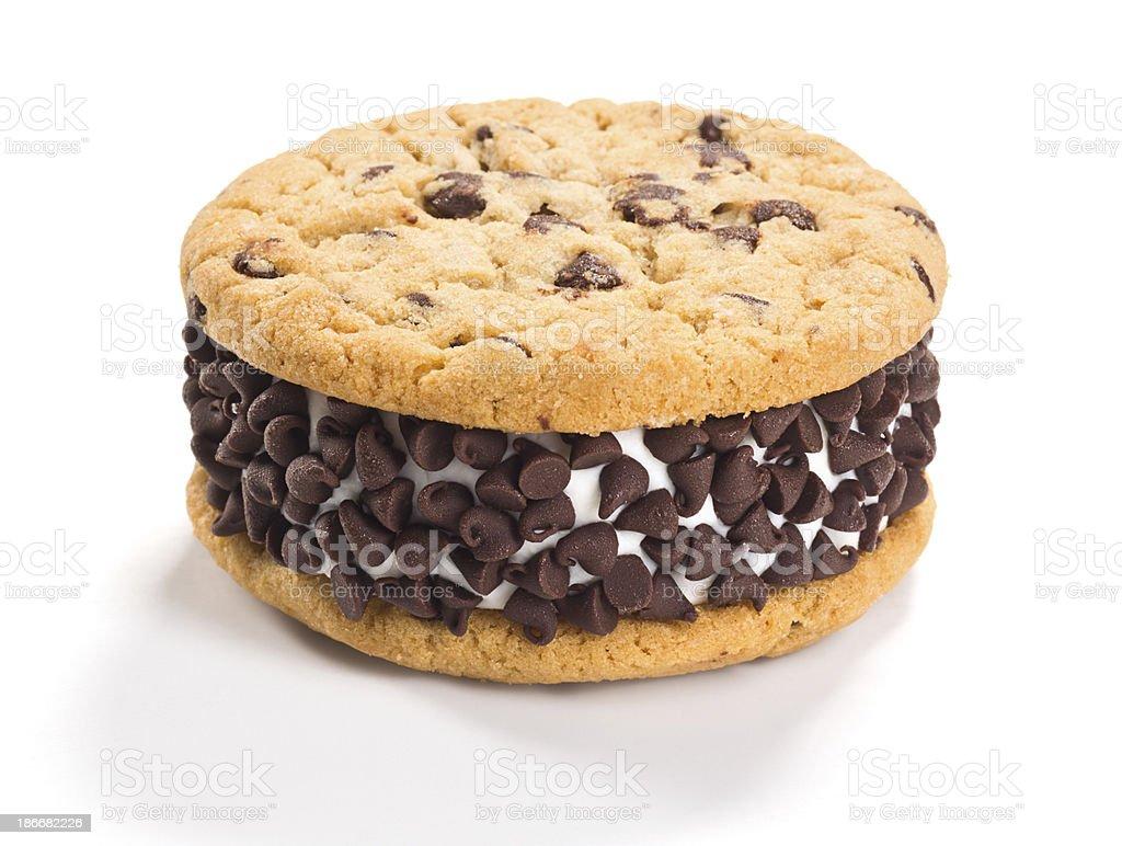 Chocolate Chip Cookie Ice Cream Sandwich royalty-free stock photo
