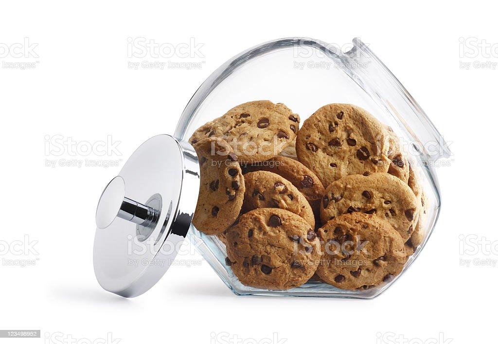 Chocolate Chip Cookie Jar royalty-free stock photo