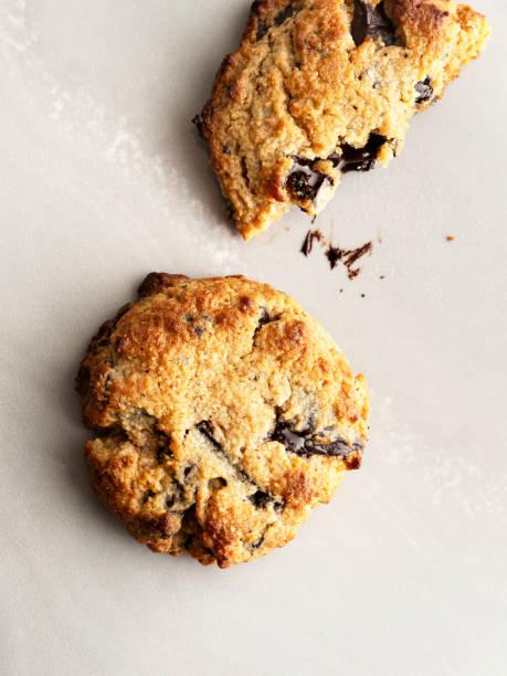 Chocolate chip cookie, Paleo Chocolate Chip Cookies, Gluten Free, stock photo
