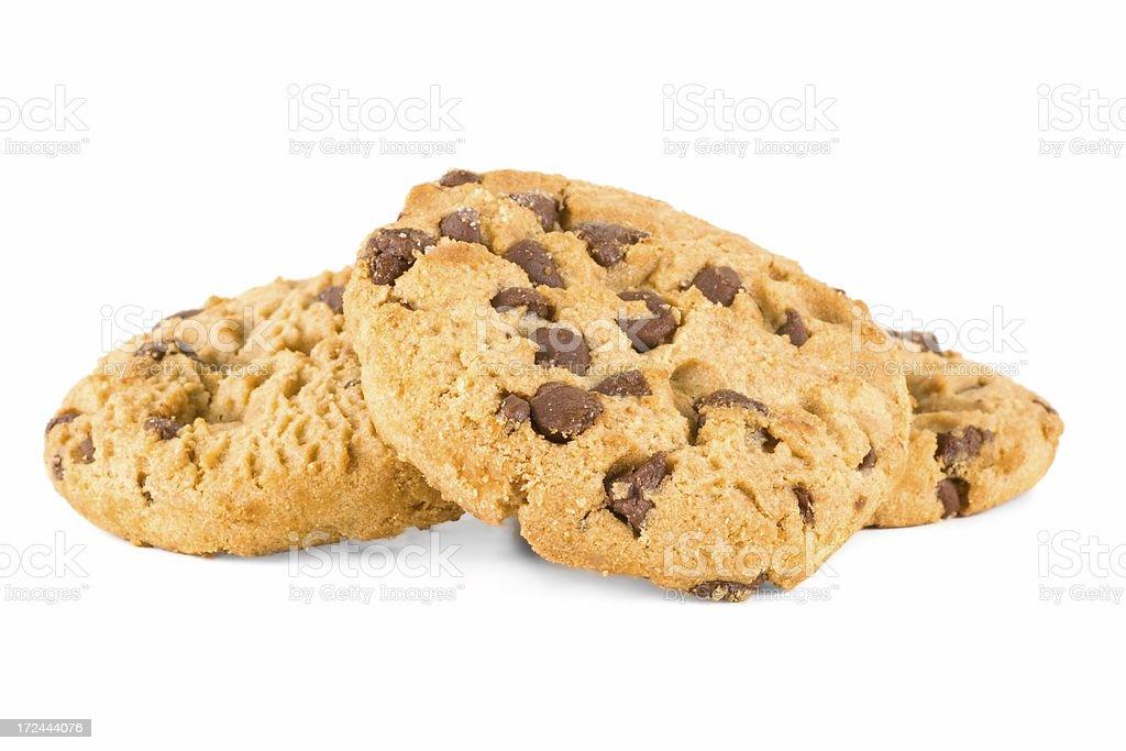Chocolate Chip Cookie three royalty-free stock photo